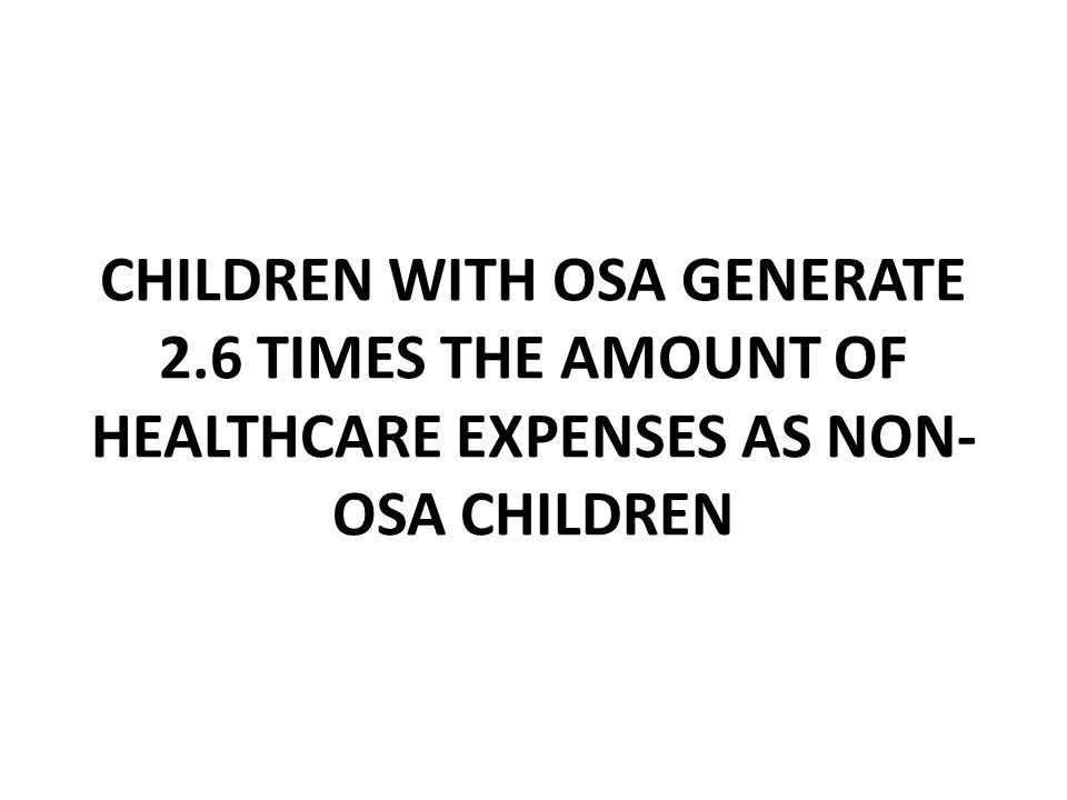 CHILDREN WITH OSA GENERATE 2