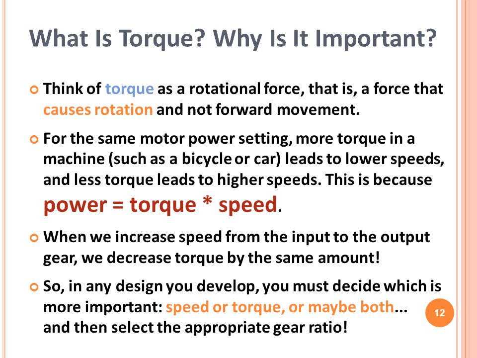 What Is Torque Why Is It Important