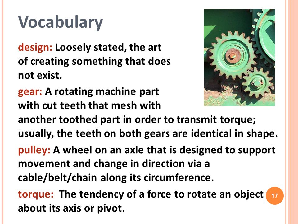 Vocabulary design: Loosely stated, the art of creating something that does not exist.