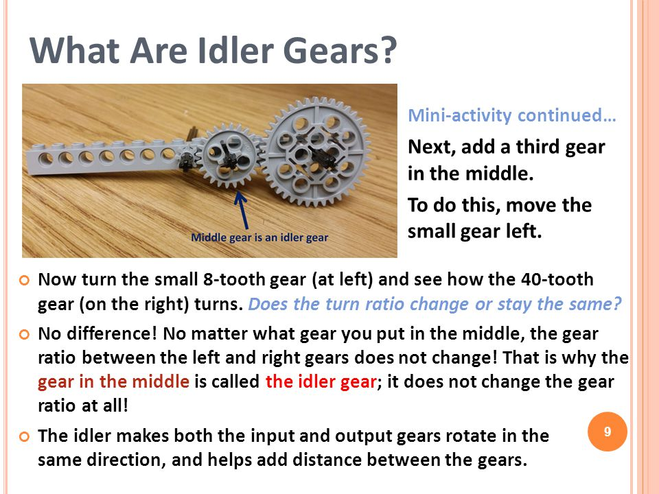 What Are Idler Gears Next, add a third gear in the middle.