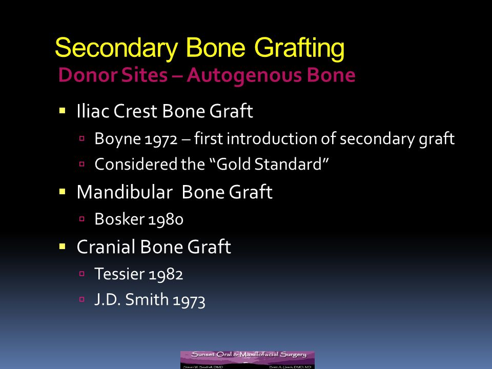 Secondary Bone Grafting