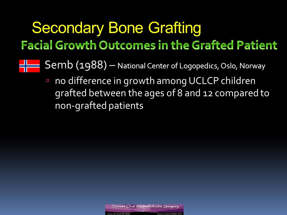 Secondary Bone Grafting