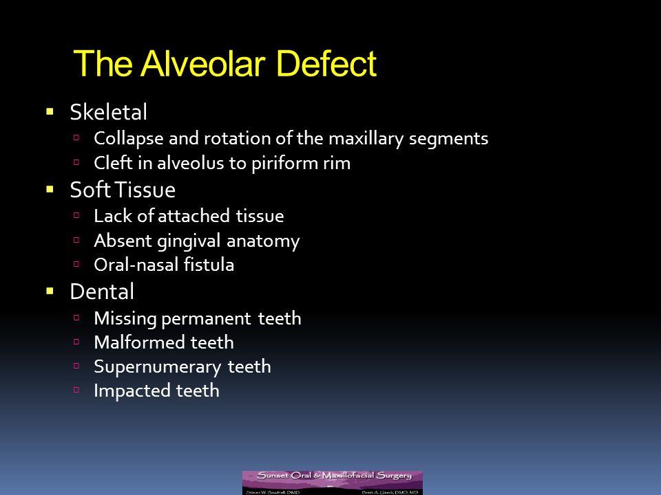 The Alveolar Defect Skeletal Soft Tissue Dental