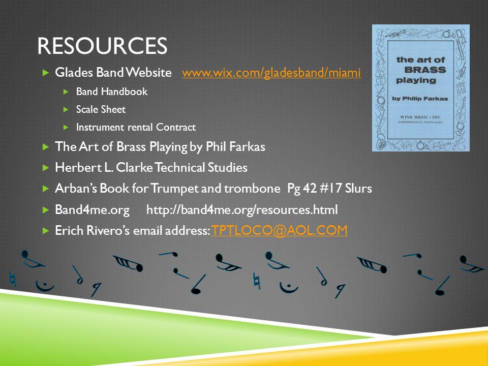 Resources Glades Band Website www.wix.com/gladesband/miami