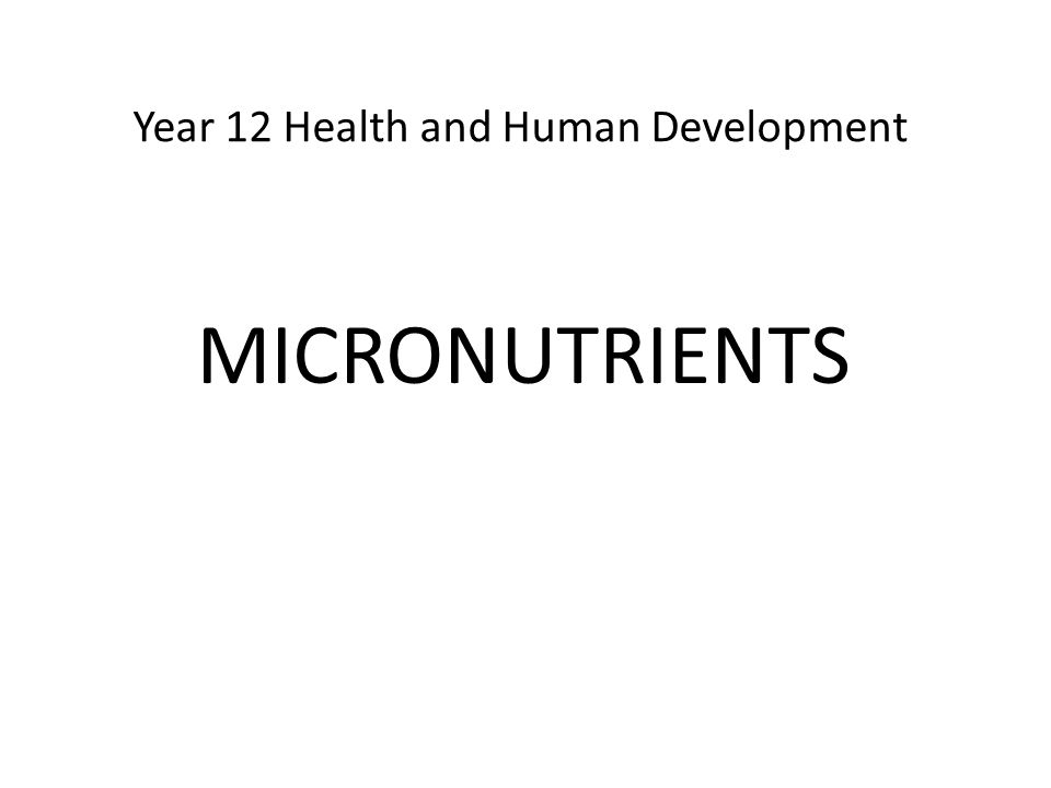 Year 12 Health and Human Development