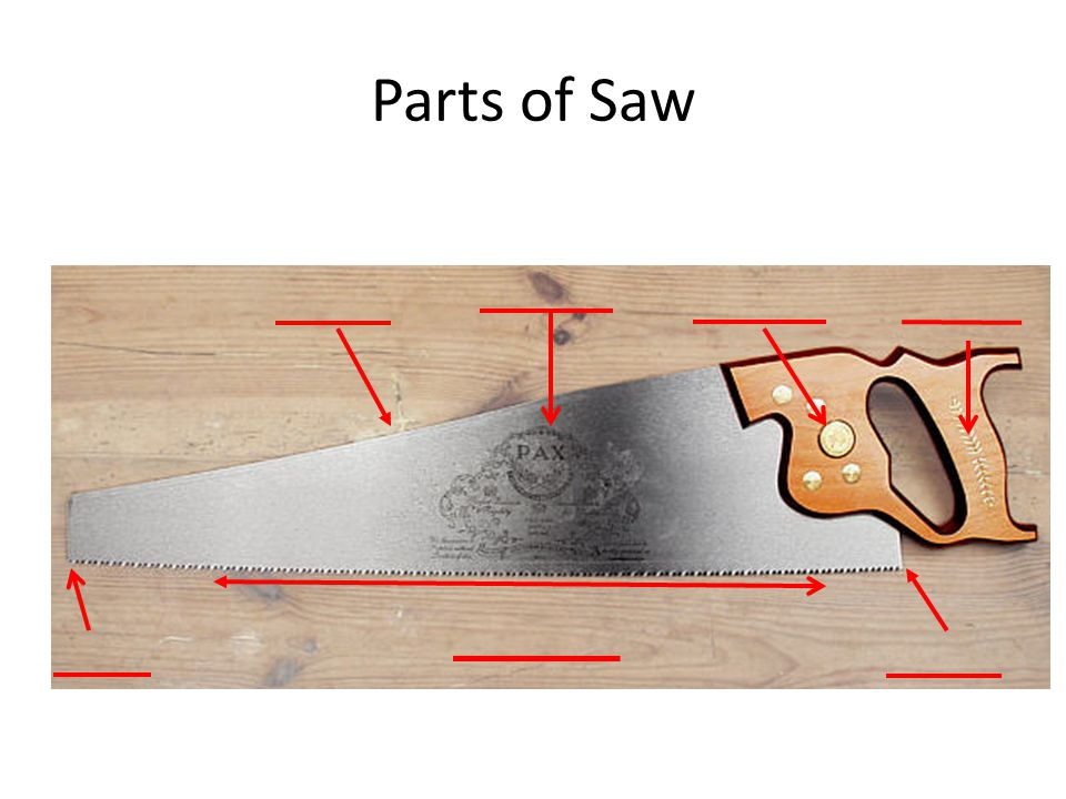 Parts of Saw