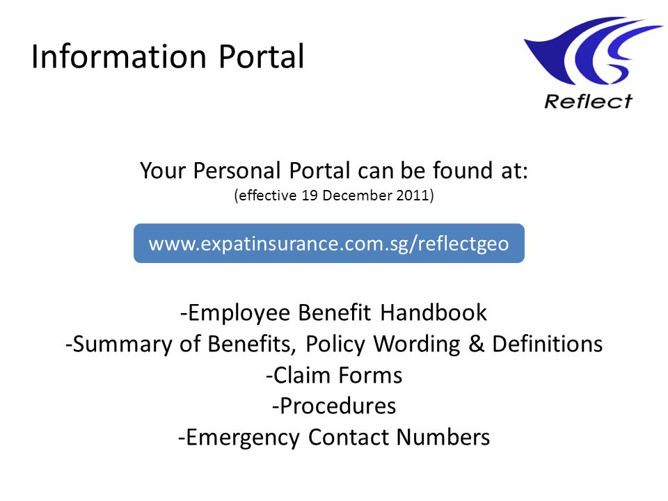Information Portal Your Personal Portal can be found at:
