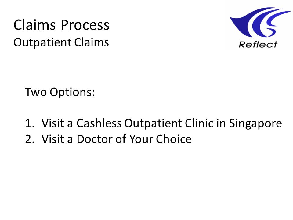Claims Process Outpatient Claims Two Options: