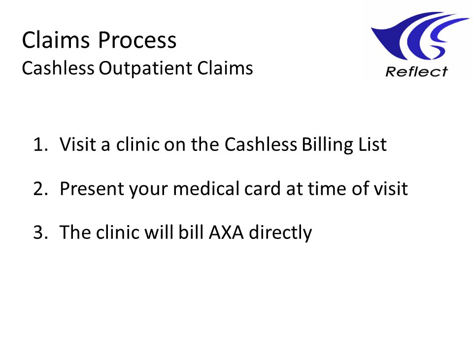 Claims Process Cashless Outpatient Claims
