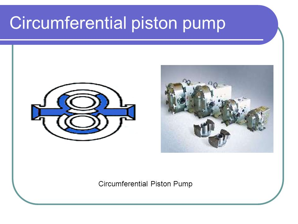 Circumferential piston pump