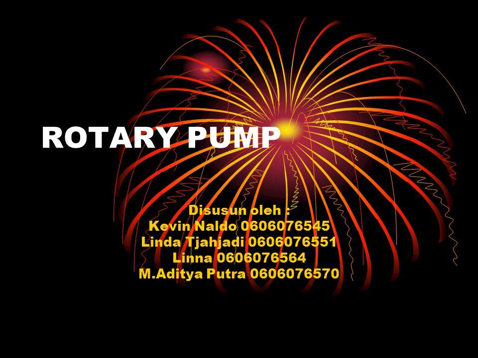 ROTARY PUMP Disusun oleh : Kevin Naldo 0606076545