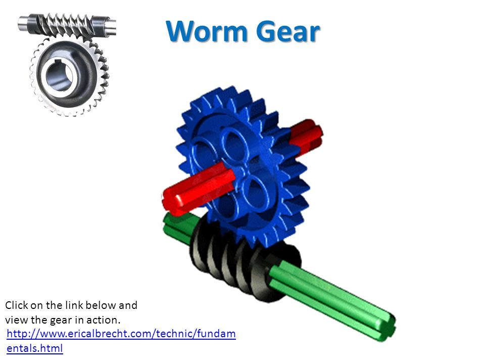 Worm Gear Click on the link below and view the gear in action.