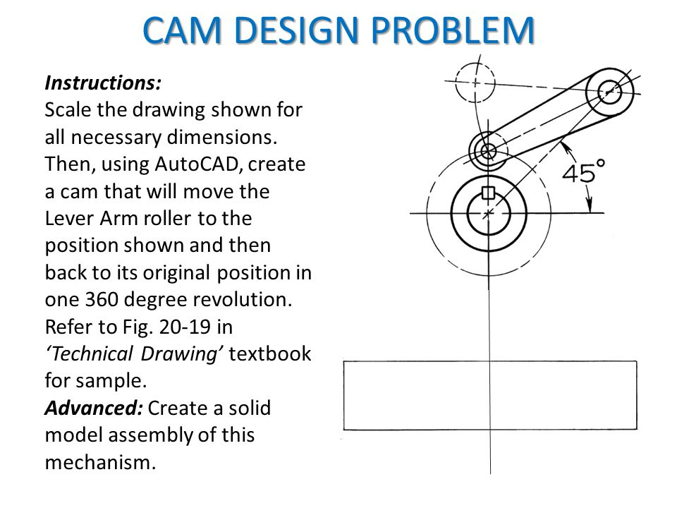 CAM DESIGN PROBLEM Instructions:
