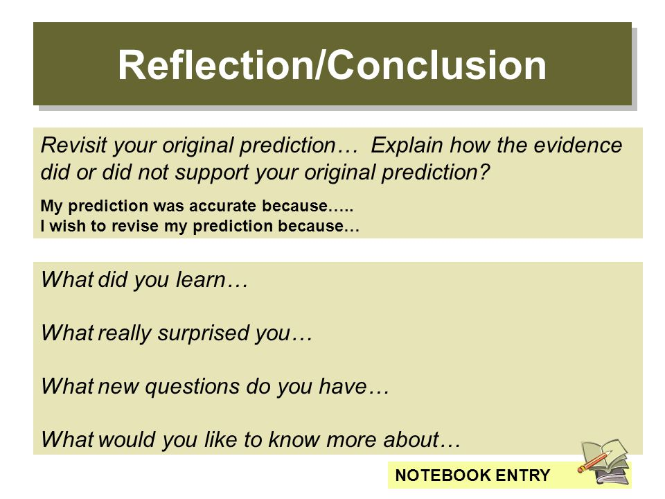 conclusion reflection A reflective essay, also known as a personal essay, requires you to not only tell a story about an event, person or other important element from your past but to have a purpose for telling.