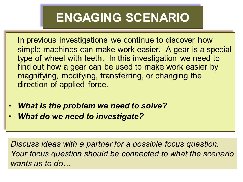 ENGAGING SCENARIO