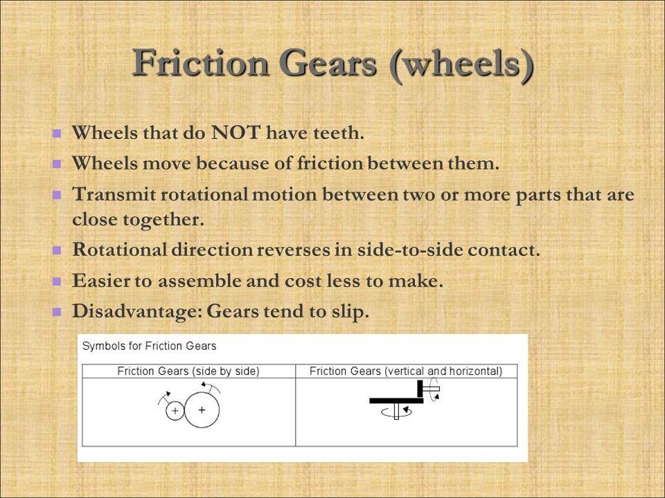Friction Gears (wheels)