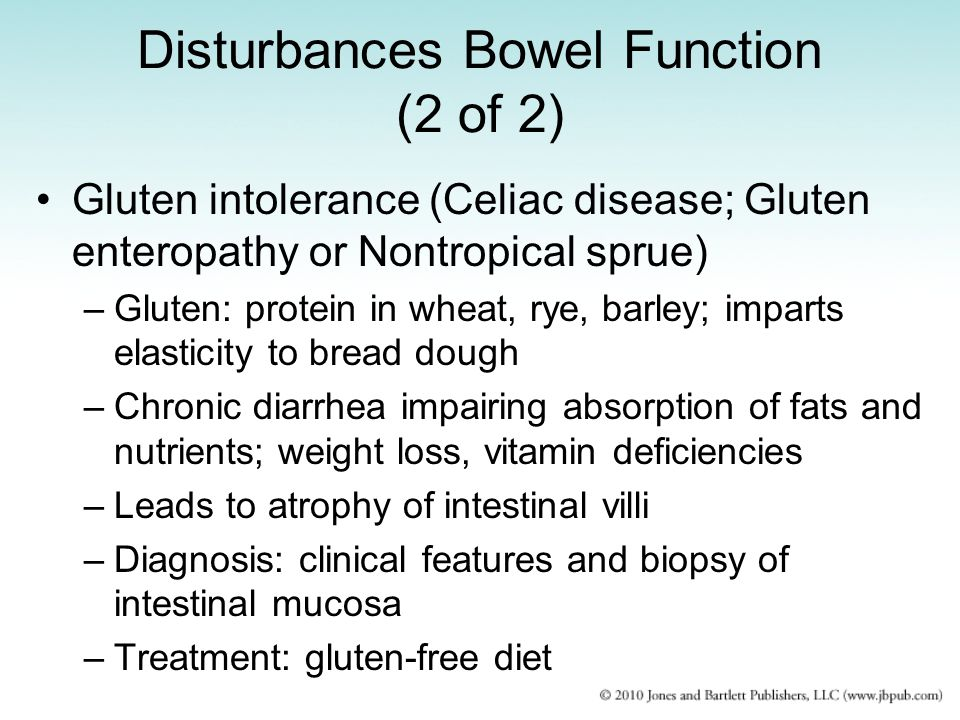 Disturbances Bowel Function (2 of 2)
