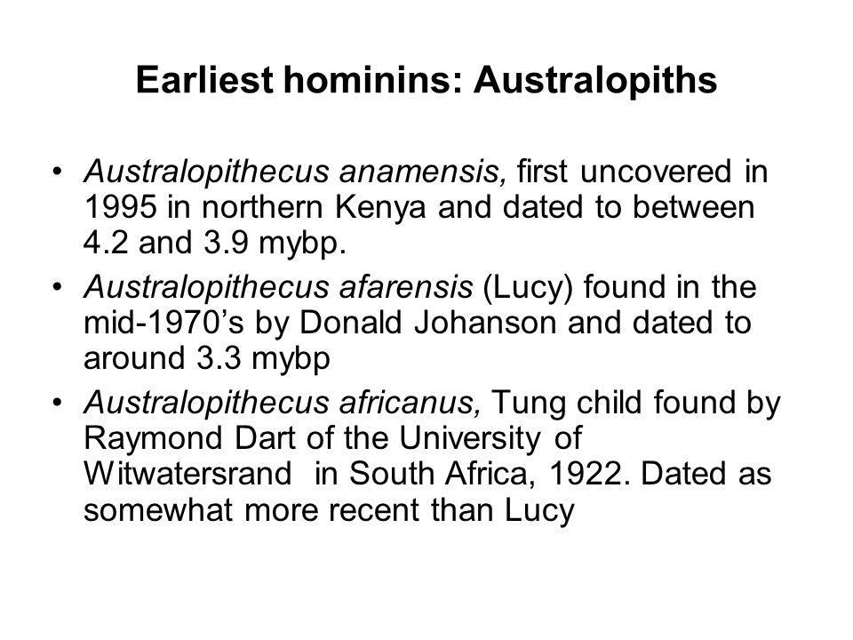 Earliest hominins: Australopiths