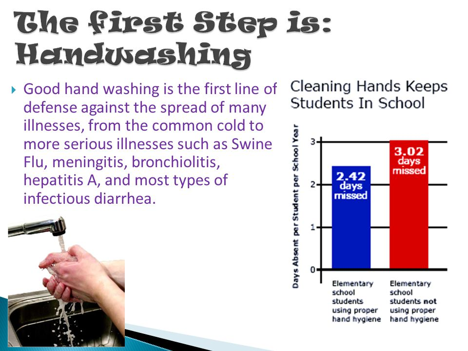 The first Step is: Handwashing