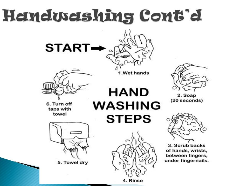 Handwashing Cont'd