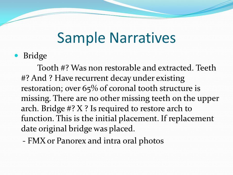 Sample Narratives Bridge