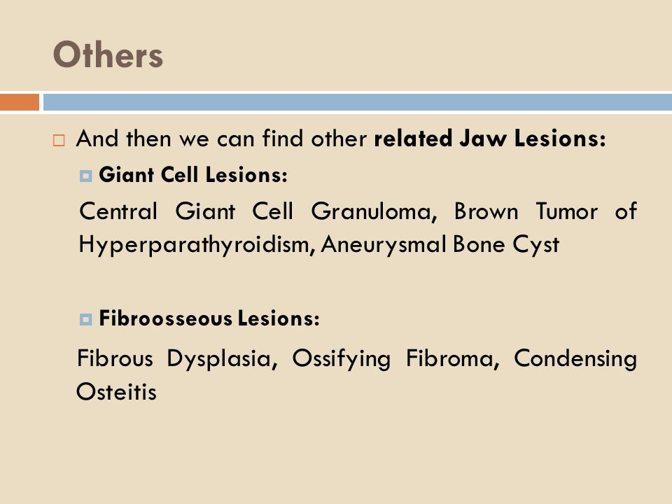 Others Fibrous Dysplasia, Ossifying Fibroma, Condensing Osteitis
