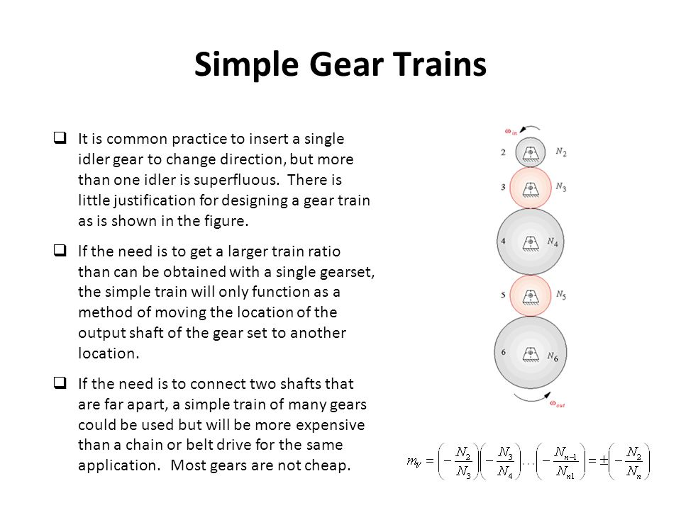Simple Gear Trains
