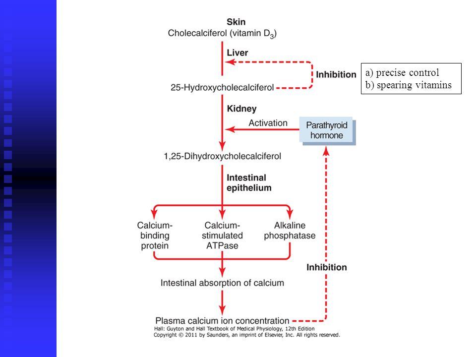 a) precise control b) spearing vitamins