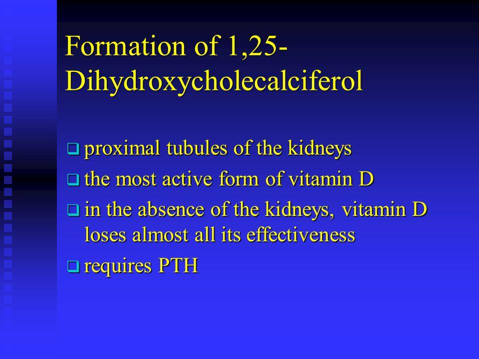 Formation of 1,25-Dihydroxycholecalciferol