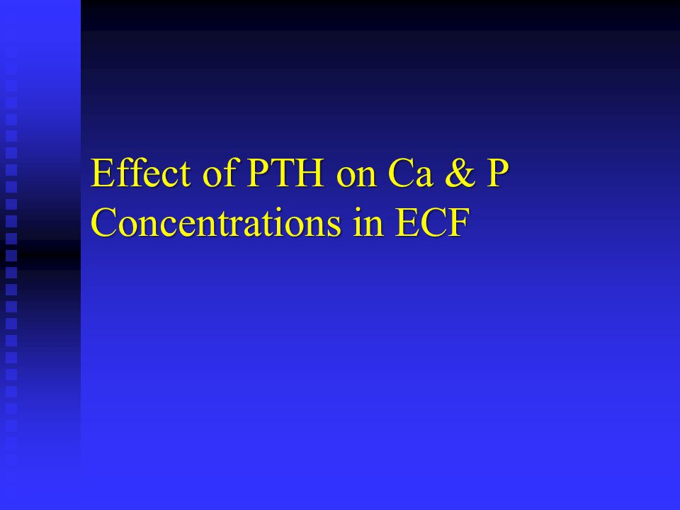 Effect of PTH on Ca & P Concentrations in ECF