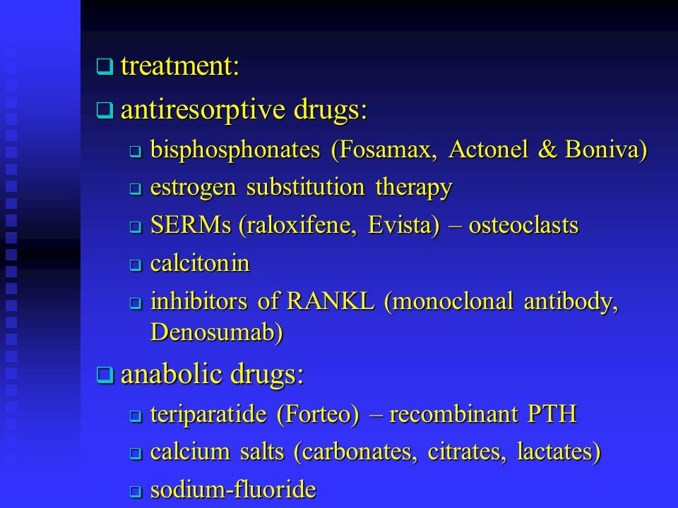 antiresorptive drugs: