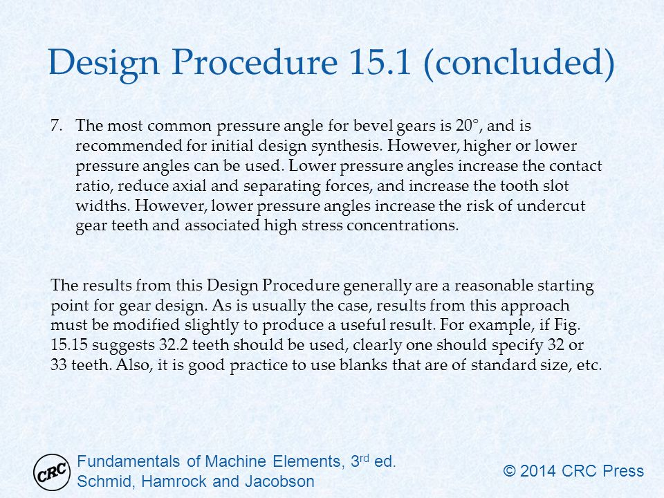 Design Procedure 15.1 (concluded)