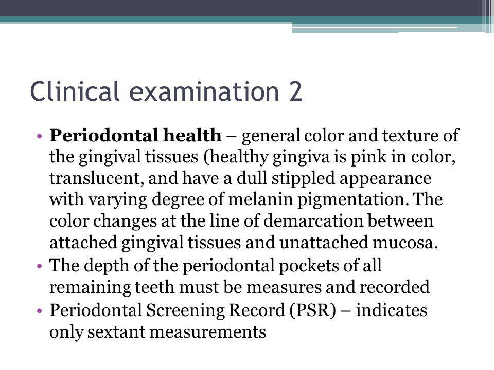 Clinical examination 2