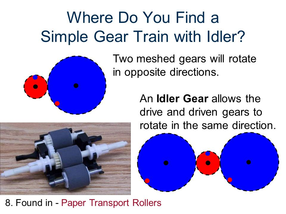 Where Do You Find a Simple Gear Train with Idler