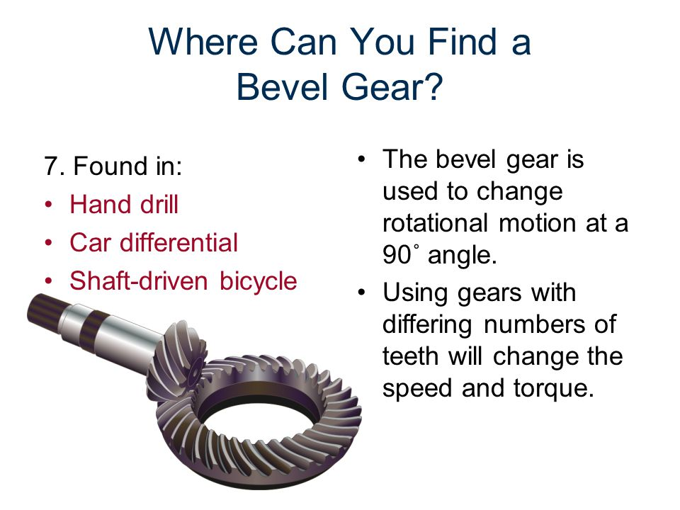 Where Can You Find a Bevel Gear