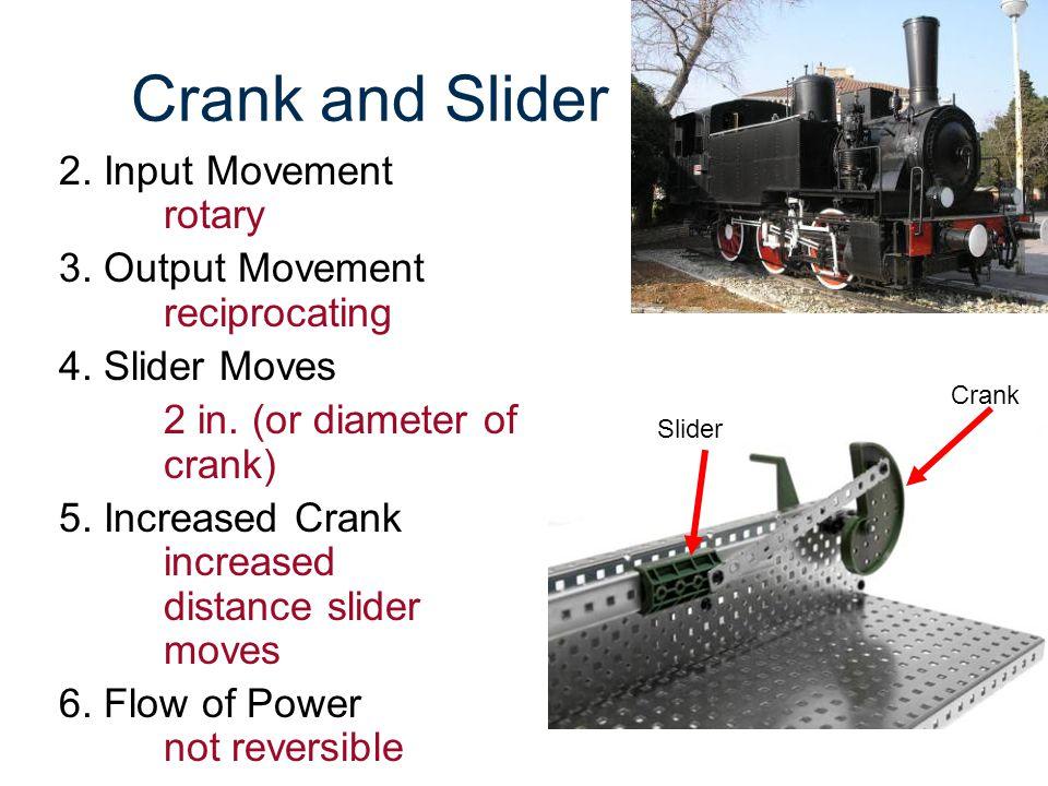 Crank and Slider 2. Input Movement rotary