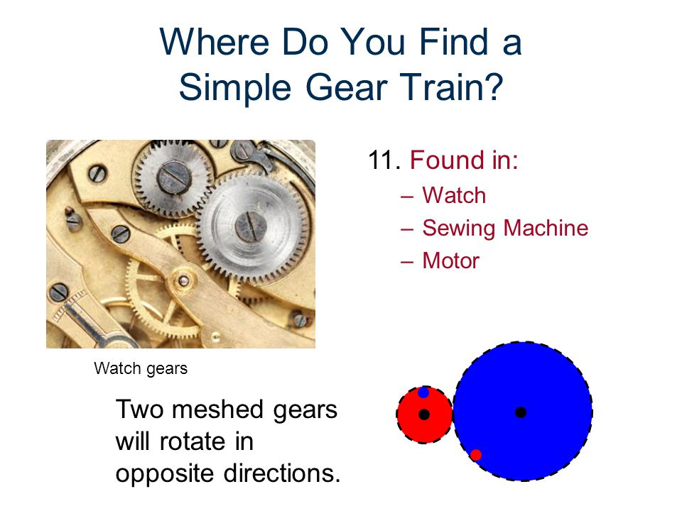 Where Do You Find a Simple Gear Train