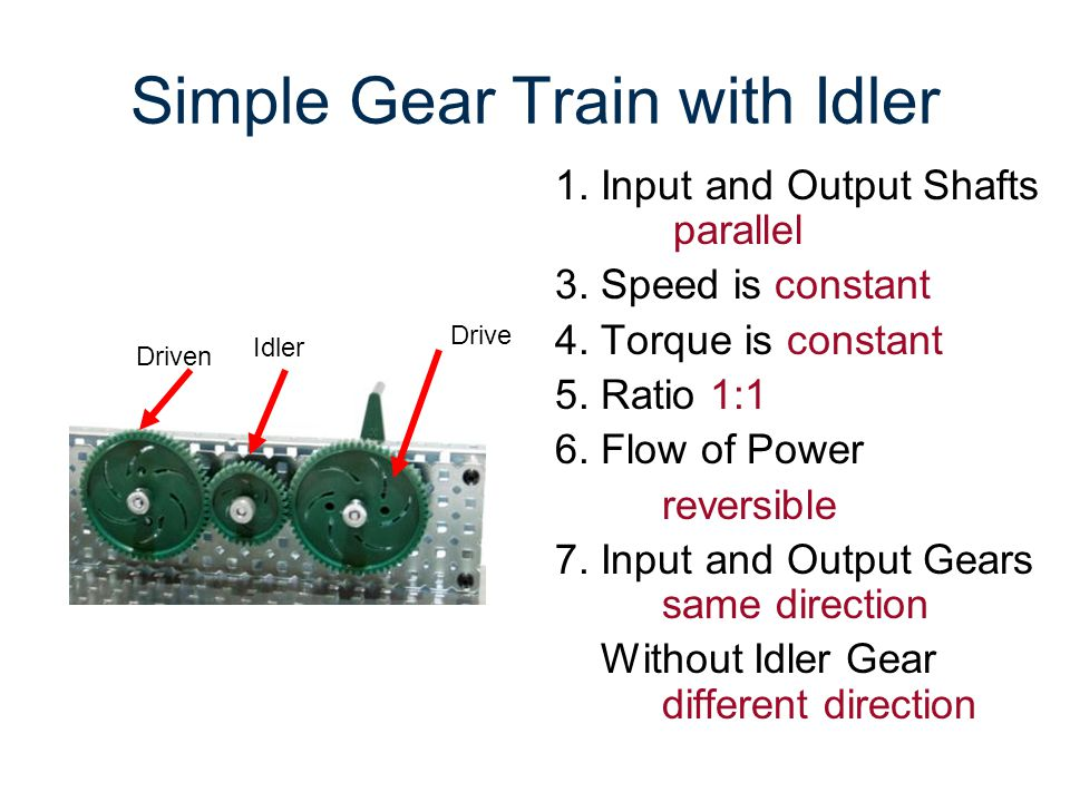 Simple Gear Train with Idler
