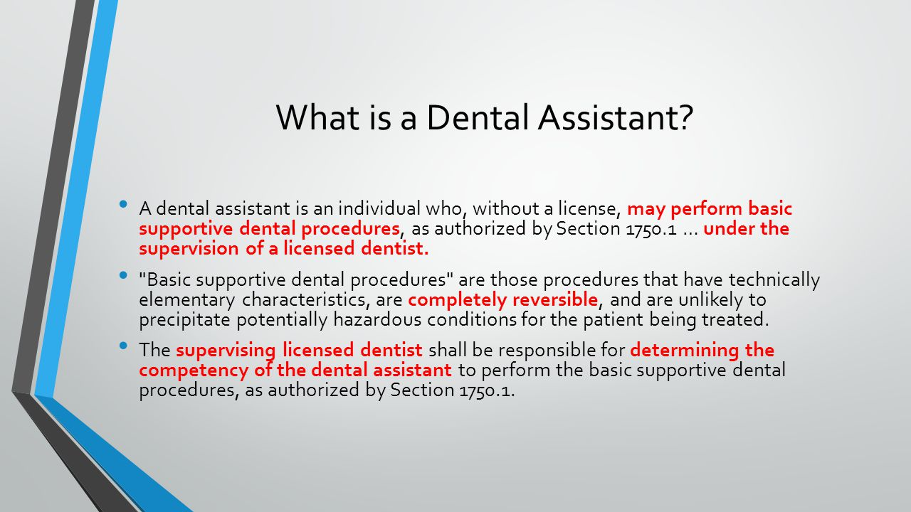 What is a Dental Assistant