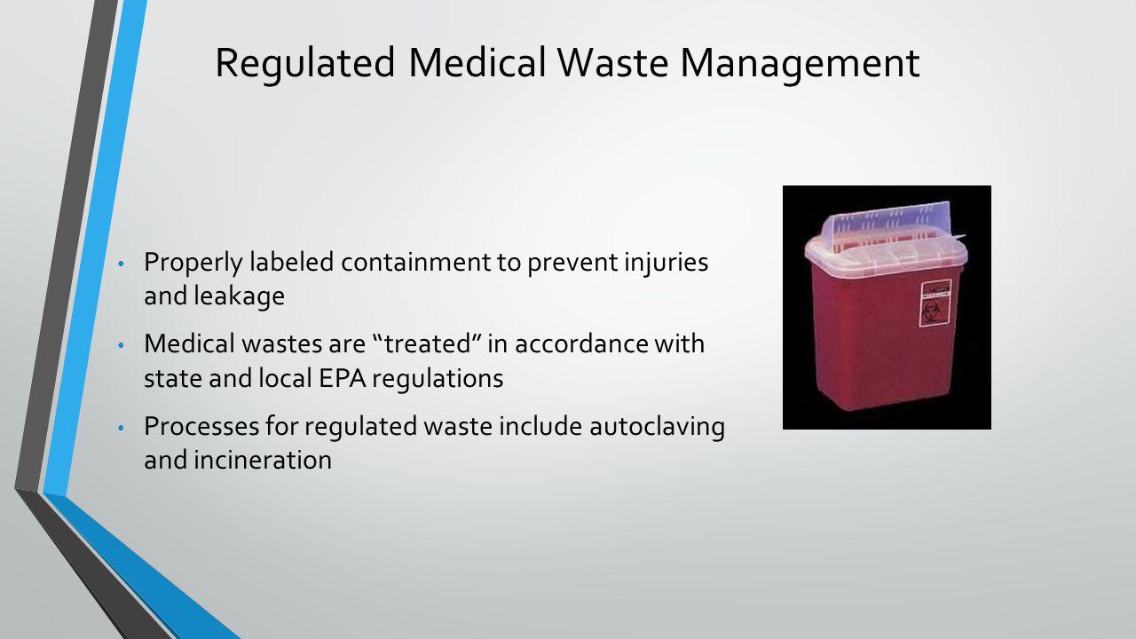 Regulated Medical Waste Management