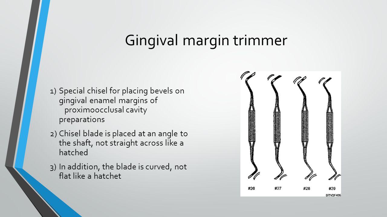 Gingival margin trimmer