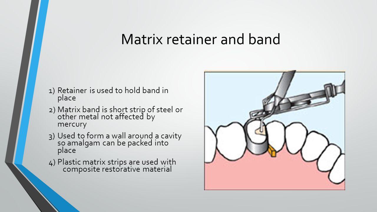 Matrix retainer and band