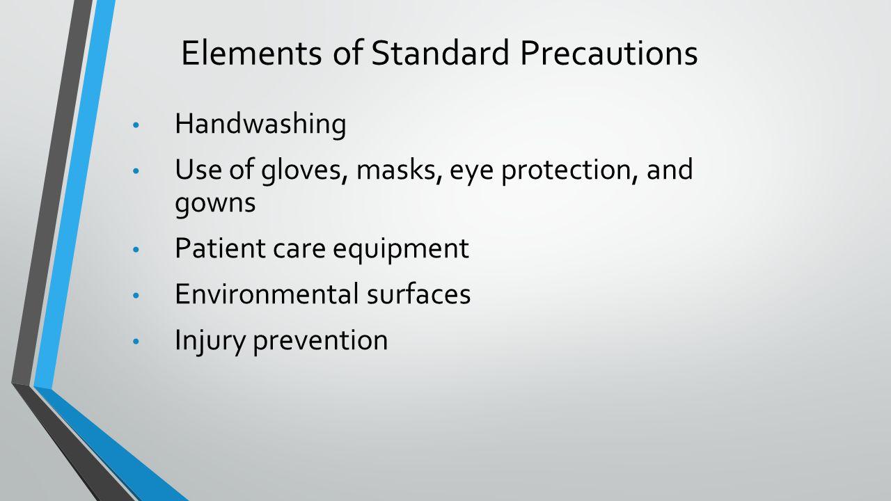 Elements of Standard Precautions