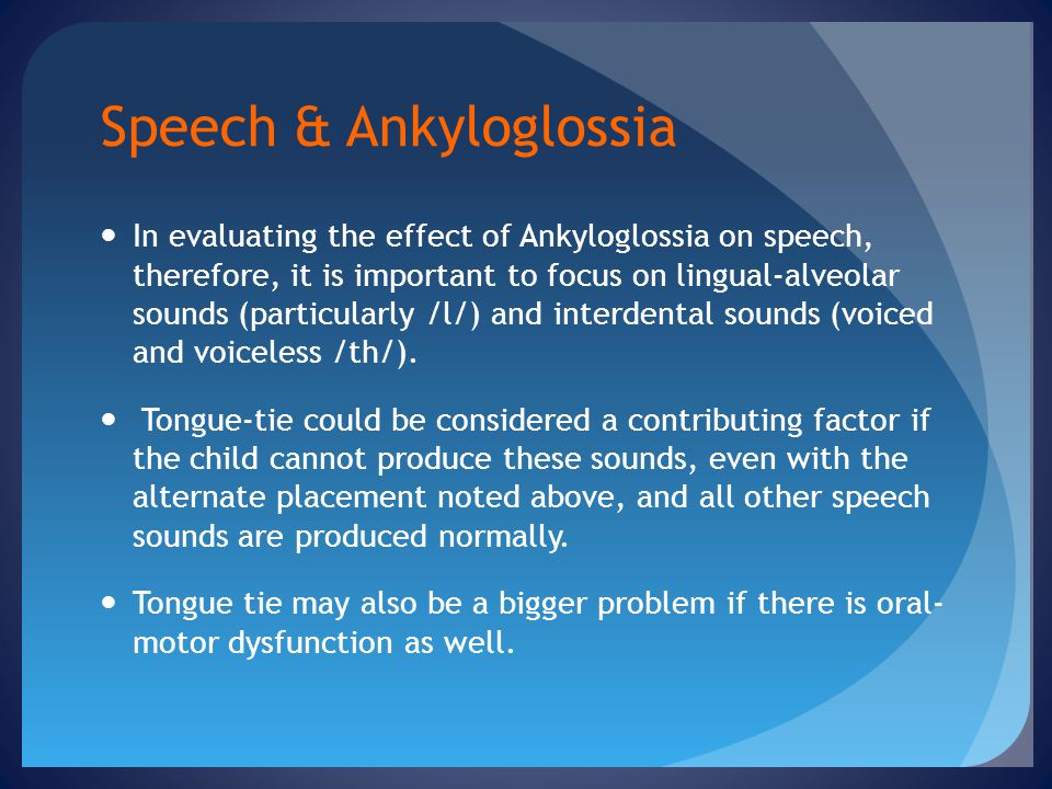 Speech & Ankyloglossia