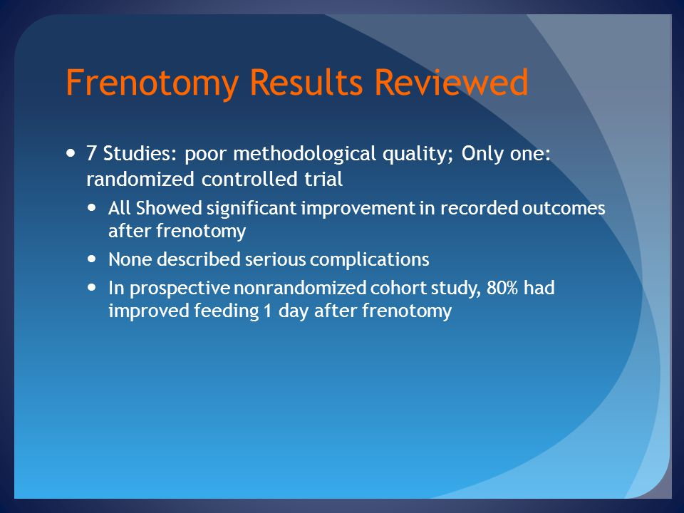 Frenotomy Results Reviewed