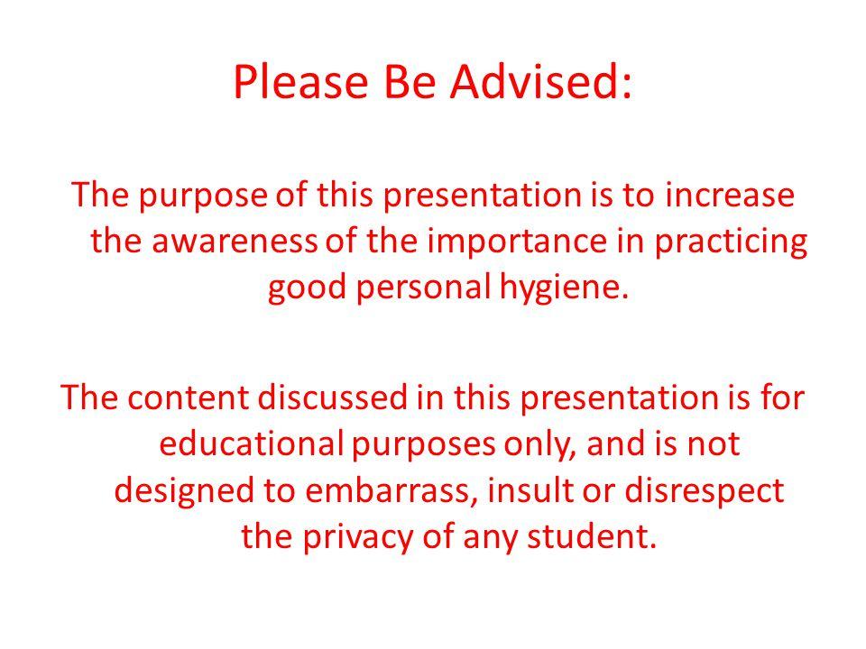 Please Be Advised: