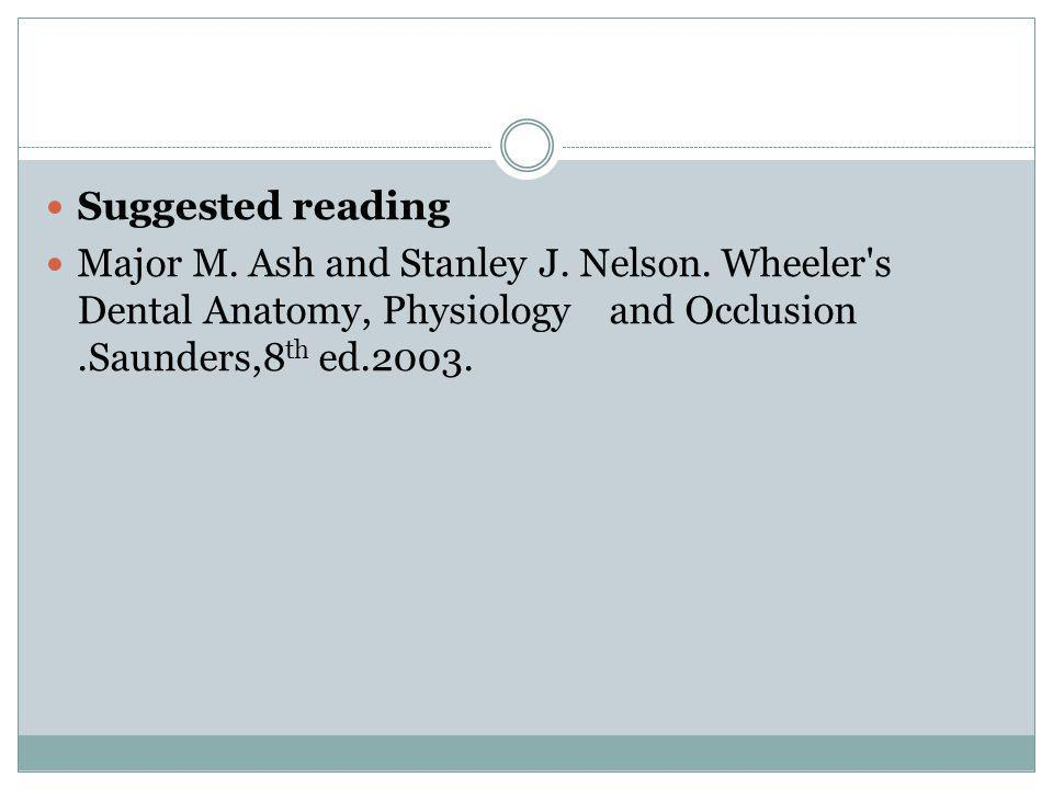 Suggested reading Major M. Ash and Stanley J. Nelson.