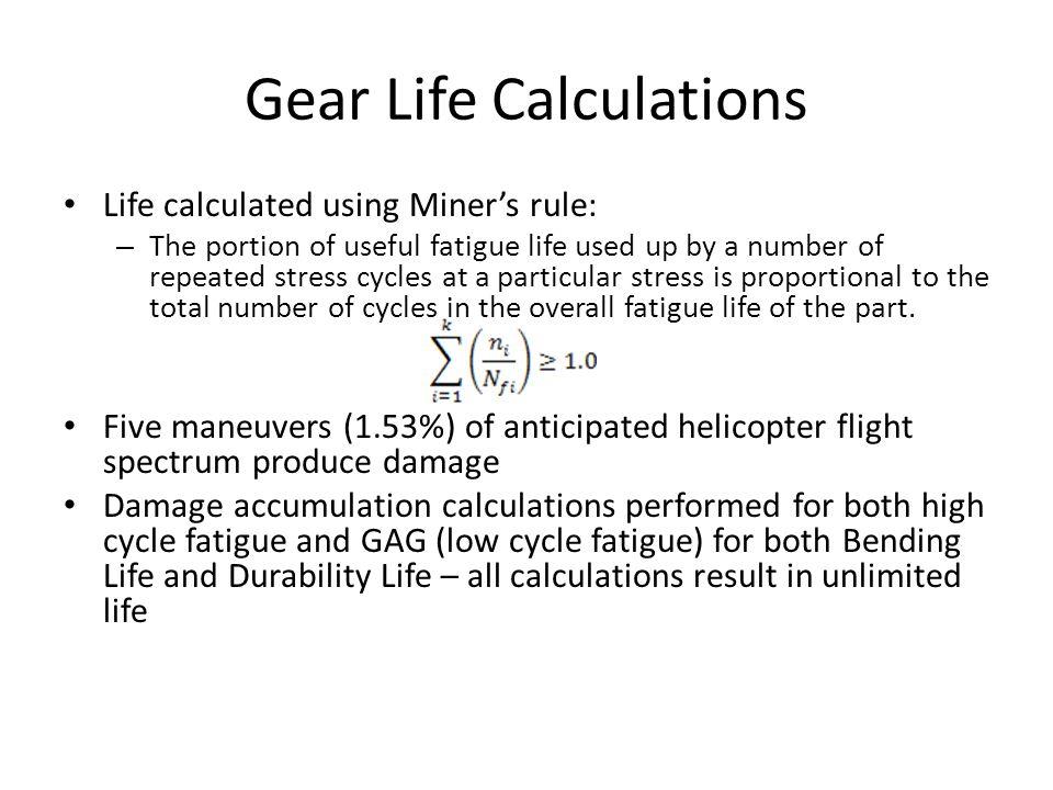 Gear Life Calculations