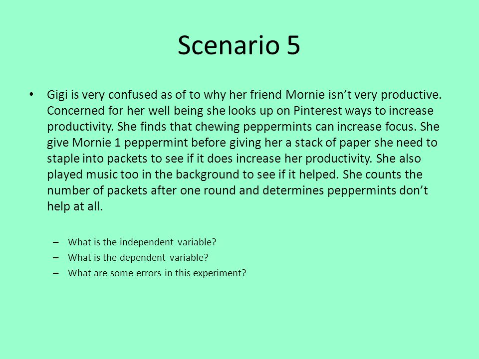 Scenario 5