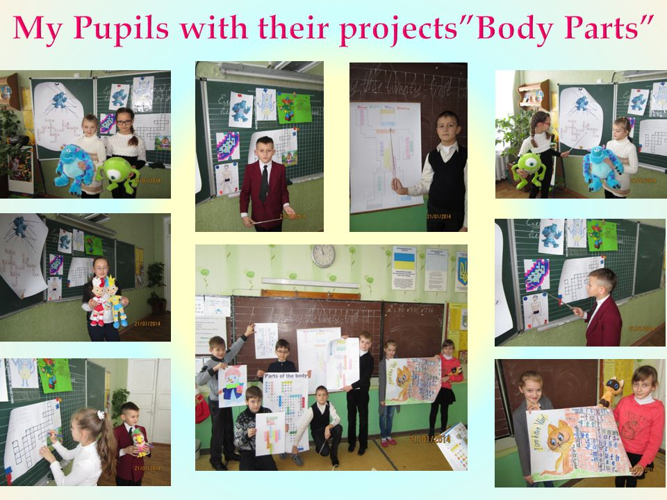 My Pupils with their projects Body Parts